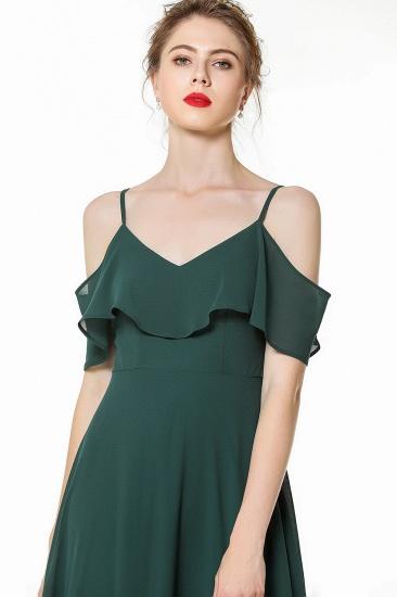 BMbridal Elegant Cold-shoulder Flounced Crinkle Backless Bridesmaid Dresses Affordable_5