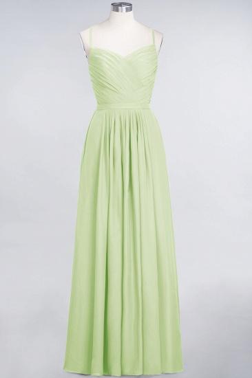 Glamorous Spaghetti Straps Sweetheart Ruffle Chiffon Bridesmaid Dress Online_33