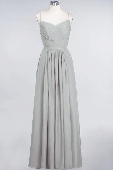 Glamorous Spaghetti Straps Sweetheart Ruffle Chiffon Bridesmaid Dress Online_29
