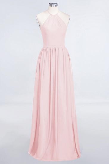 BMbridal Affordable Halter Sleeveless Long Burgundy Bridesmaid Dress with Ruffle_3
