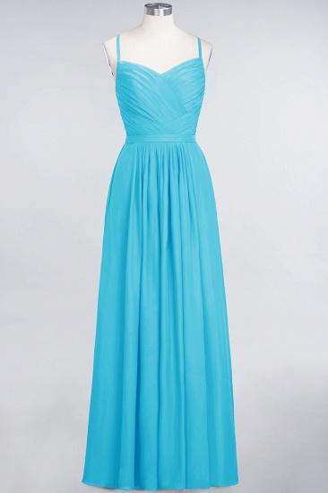 Glamorous Spaghetti Straps Sweetheart Ruffle Chiffon Bridesmaid Dress Online_23