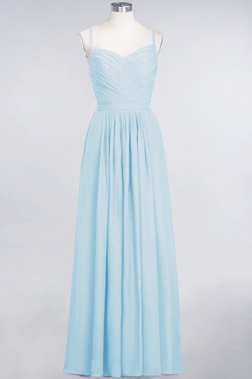 Glamorous Spaghetti Straps Sweetheart Ruffle Chiffon Bridesmaid Dress Online_22