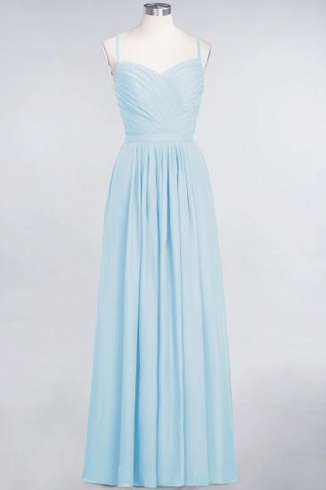 BMbridal Glamorous Spaghetti Straps Sweetheart Ruffle Chiffon Bridesmaid Dress Online_23