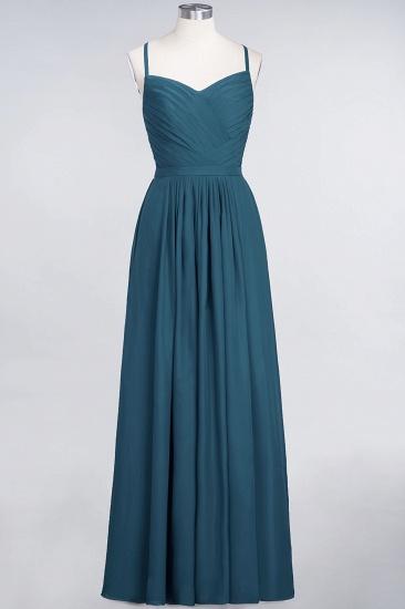 Glamorous Spaghetti Straps Sweetheart Ruffle Chiffon Bridesmaid Dress Online_26