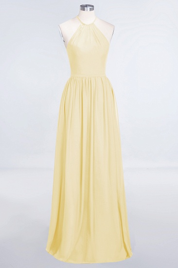 BMbridal Affordable Halter Sleeveless Long Burgundy Bridesmaid Dress with Ruffle_18