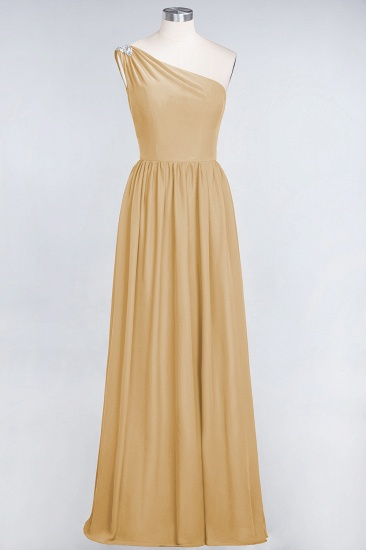 Affordable Chiffon One-Shoulder Ruffle Bridesmaid Dress with Beadings_13