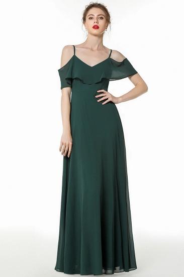 BMbridal Elegant Cold-shoulder Flounced Crinkle Backless Bridesmaid Dresses Affordable_6