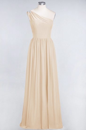 Affordable Chiffon One-Shoulder Ruffle Bridesmaid Dress with Beadings_14