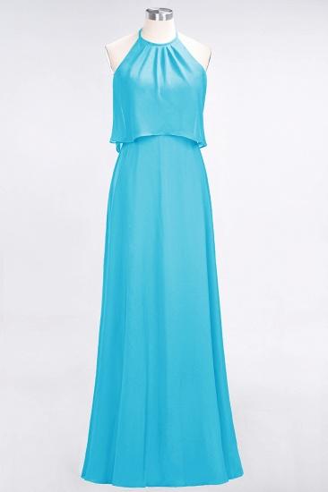BMbridal Gorgeous Chiffon Flounced Crinkle Sheath Long Burgundy Bridesmaid Dresses_24