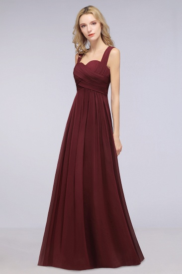 Chic Tiered Sweetheart Cap-Sleeves Bungurdy Bridesmaid Dresses_53