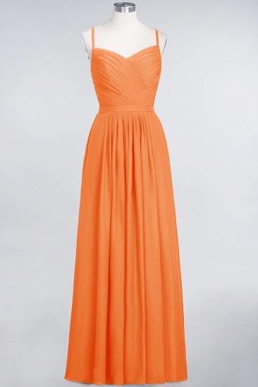 Glamorous Spaghetti Straps Sweetheart Ruffle Chiffon Bridesmaid Dress Online_15