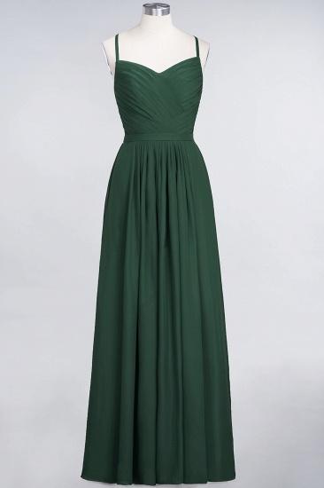 Glamorous Spaghetti Straps Sweetheart Ruffle Chiffon Bridesmaid Dress Online_30