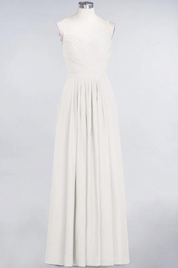 Glamorous Spaghetti Straps Sweetheart Ruffle Chiffon Bridesmaid Dress Online_2