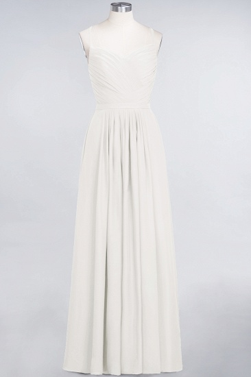 BMbridal Glamorous Spaghetti Straps Sweetheart Ruffle Chiffon Bridesmaid Dress Online_2