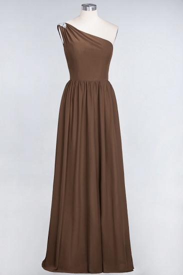 Affordable Chiffon One-Shoulder Ruffle Bridesmaid Dress with Beadings_12