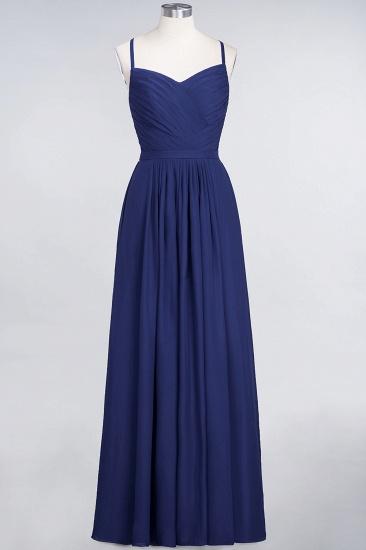 Glamorous Spaghetti Straps Sweetheart Ruffle Chiffon Bridesmaid Dress Online_25