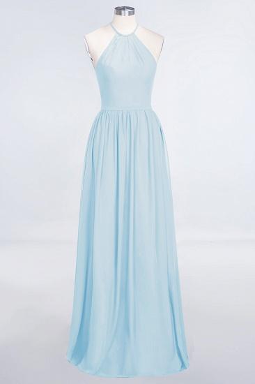 BMbridal Affordable Halter Sleeveless Long Burgundy Bridesmaid Dress with Ruffle_23
