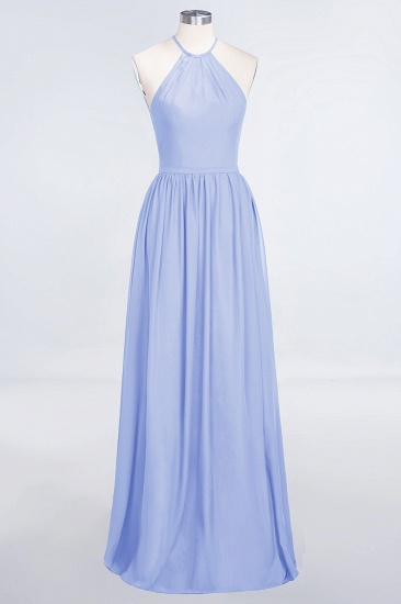 BMbridal Affordable Halter Sleeveless Long Burgundy Bridesmaid Dress with Ruffle_22