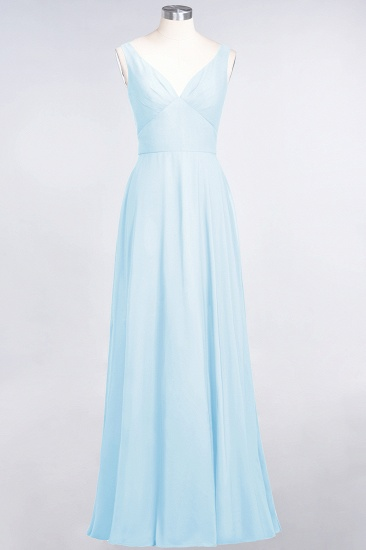 BMbridal Chic Chiffon V-Neck Straps Ruffle Affordable Bridesmaid Dresses with Open Back_23