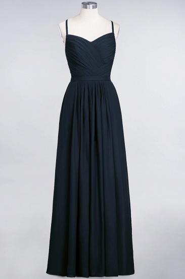 Glamorous Spaghetti Straps Sweetheart Ruffle Chiffon Bridesmaid Dress Online_27