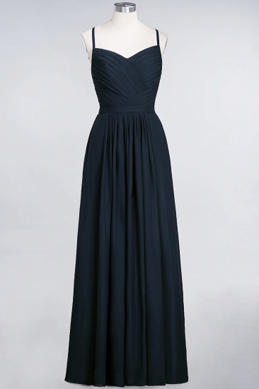 BMbridal Glamorous Spaghetti Straps Sweetheart Ruffle Chiffon Bridesmaid Dress Online_28