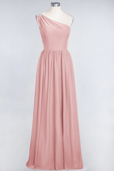 Affordable Chiffon One-Shoulder Ruffle Bridesmaid Dress with Beadings_6