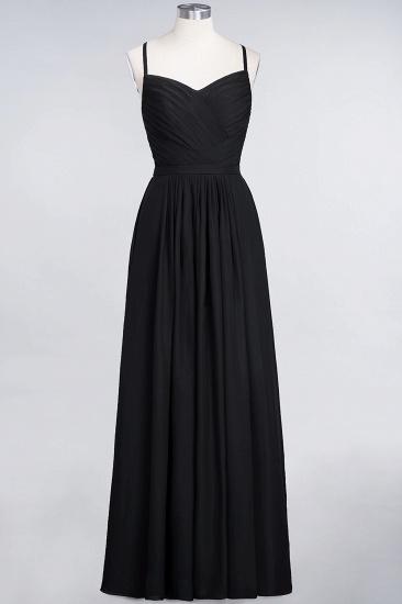 Glamorous Spaghetti Straps Sweetheart Ruffle Chiffon Bridesmaid Dress Online_28