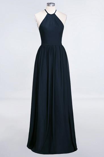 BMbridal Affordable Halter Sleeveless Long Burgundy Bridesmaid Dress with Ruffle_28