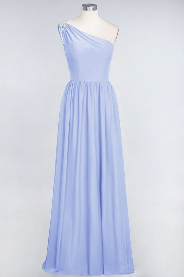 Affordable Chiffon One-Shoulder Ruffle Bridesmaid Dress with Beadings_22