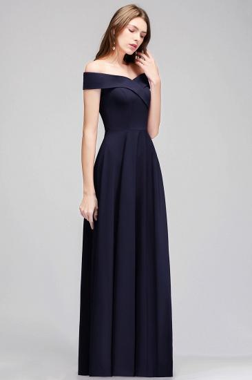 BMbridal Popular Off-the-Shoulder Ruffle Navy Bridesmaid Dresses Online_4