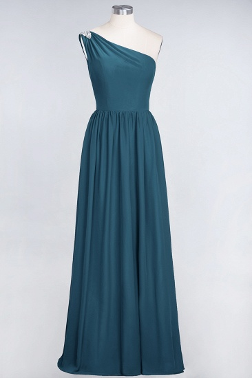 Affordable Chiffon One-Shoulder Ruffle Bridesmaid Dress with Beadings_27