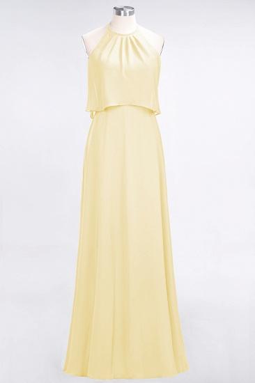 BMbridal Gorgeous Chiffon Flounced Crinkle Sheath Long Burgundy Bridesmaid Dresses_18