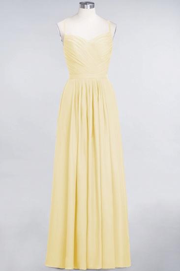 Glamorous Spaghetti Straps Sweetheart Ruffle Chiffon Bridesmaid Dress Online_17