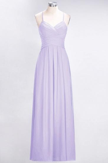 Affordable Spaghetti Straps V-Neck Burgundy Chiffon Bridesmaid Dress with Keyhole Back_21