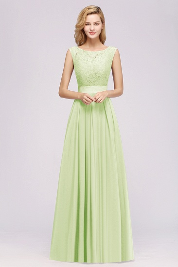 Vintage Sleeveless Lace Bridesmaid Dresses Affordable Chiffon Wedding Party Dress Online_53