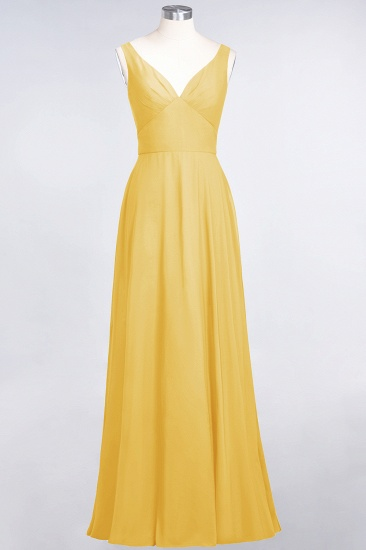 BMbridal Chic Chiffon V-Neck Straps Ruffle Affordable Bridesmaid Dresses with Open Back_17