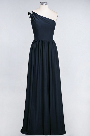 Affordable Chiffon One-Shoulder Ruffle Bridesmaid Dress with Beadings_28