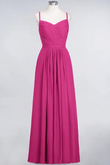 Glamorous Spaghetti Straps Sweetheart Ruffle Chiffon Bridesmaid Dress Online_9