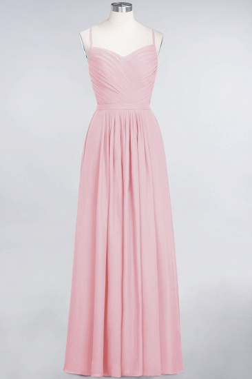 BMbridal Glamorous Spaghetti Straps Sweetheart Ruffle Chiffon Bridesmaid Dress Online_4