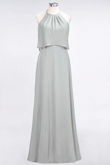 BMbridal Gorgeous Chiffon Flounced Crinkle Sheath Long Burgundy Bridesmaid Dresses_30