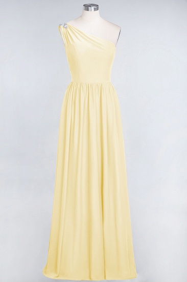 Affordable Chiffon One-Shoulder Ruffle Bridesmaid Dress with Beadings_18
