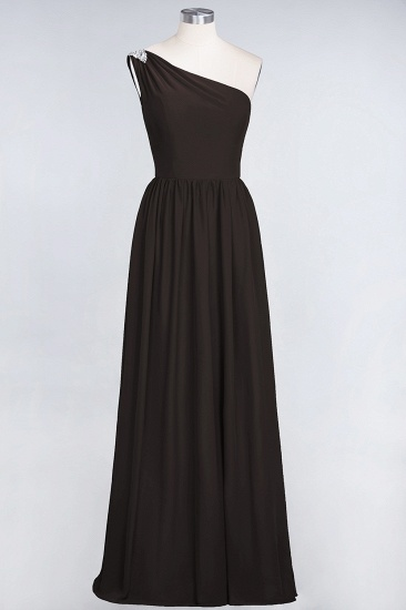 Affordable Chiffon One-Shoulder Ruffle Bridesmaid Dress with Beadings_11