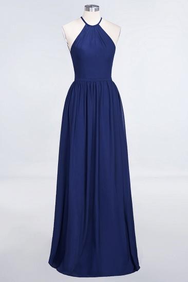 BMbridal Affordable Halter Sleeveless Long Burgundy Bridesmaid Dress with Ruffle_26