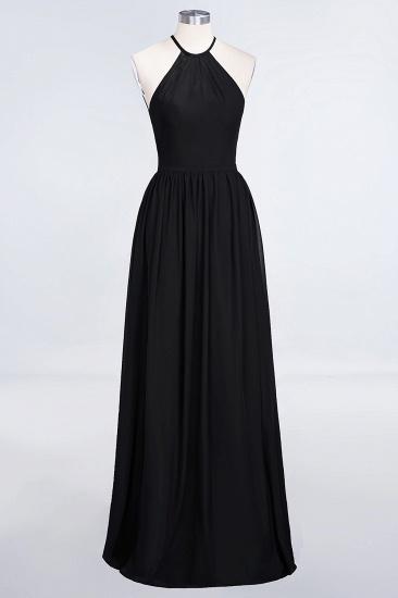 BMbridal Affordable Halter Sleeveless Long Burgundy Bridesmaid Dress with Ruffle_29