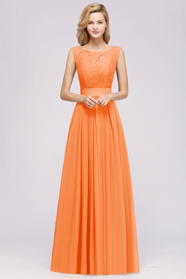 Vintage Sleeveless Lace Bridesmaid Dresses Affordable Chiffon Wedding Party Dress Online_3