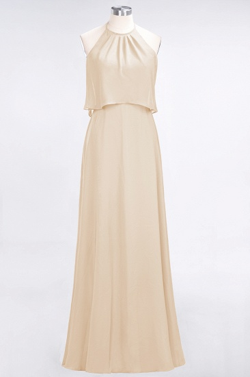 BMbridal Gorgeous Chiffon Flounced Crinkle Sheath Long Burgundy Bridesmaid Dresses_14