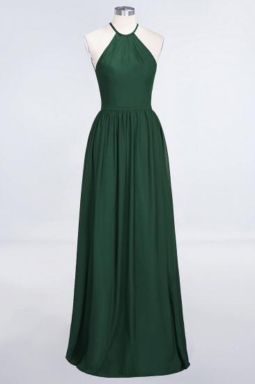 BMbridal Affordable Halter Sleeveless Long Burgundy Bridesmaid Dress with Ruffle_31