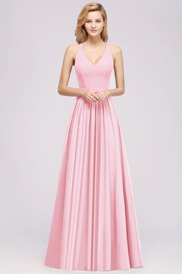 Affordable Chiffon V-Neck Sleeveless Lace Bridesmaid Dress Online_53