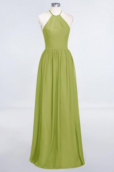BMbridal Affordable Halter Sleeveless Long Burgundy Bridesmaid Dress with Ruffle_34