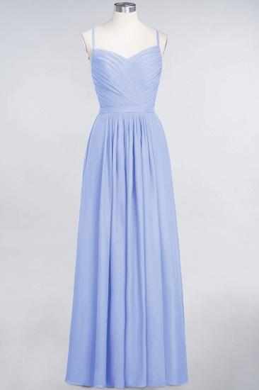 Glamorous Spaghetti Straps Sweetheart Ruffle Chiffon Bridesmaid Dress Online_21